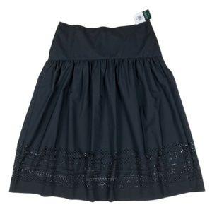 Ralph Lauren Black Laser Cut Skirt